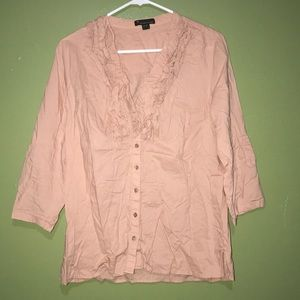 Blush pink ruffled top from Forever 21